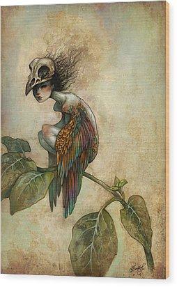 Soul Of A Bird Wood Print by Caroline Jamhour