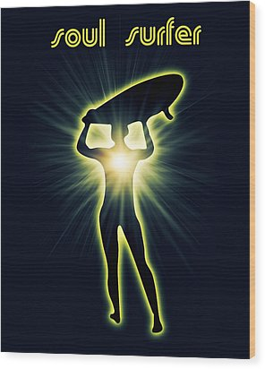 Soul Surfer Wood Print by Mark Ashkenazi