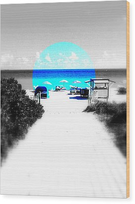 South Beach Blues Wood Print by Funkpix Photo Hunter