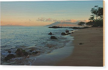 South Shore Dawn Wood Print by Stephen  Vecchiotti