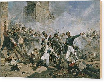 Spanish Uprising Against Napoleon In Spain Wood Print by Joaquin Sorolla y Bastida