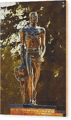 Sparty Wood Print by Paul Bartoszek