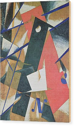 Spatial Force Construction Wood Print by Lyubov Sergeevna Popova