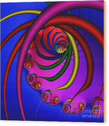 Spiral 216 Wood Print by Rolf Bertram