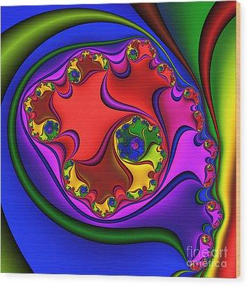 Spiral 218 Wood Print by Rolf Bertram