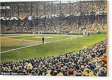 Sportsman's Park In St. Louis Mo 1943 Wood Print by Dwight Goss