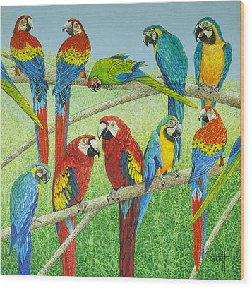 Spreading The News Wood Print by Pat Scott