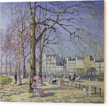 Spring In Hyde Park Wood Print by Alice Taite Fanner