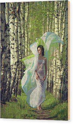 Spring Wood Print by Vladimir Zotov