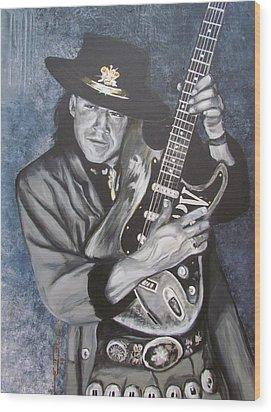 Srv - Stevie Ray Vaughan  Wood Print by Eric Dee