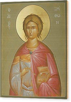 St Tryphon Wood Print by Julia Bridget Hayes