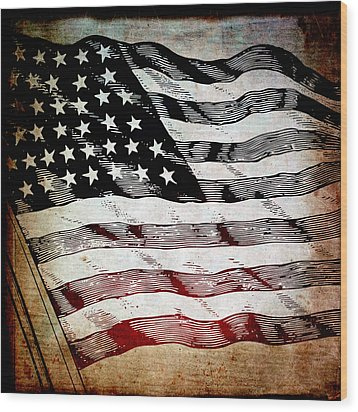 Star Spangled Banner Wood Print by Angelina Vick