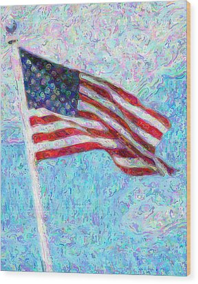 Stars And Stripes Wood Print by Colleen Kammerer
