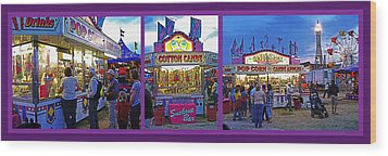 State Fair Triptych Wood Print by Steve Ohlsen
