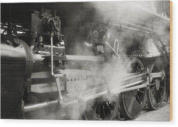 Steam Power Wood Print by Richard Rizzo