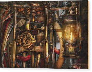 Steampunk - Mechanica  Wood Print by Mike Savad