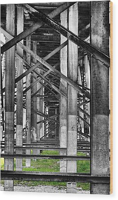 Steel Support Wood Print by Rudy Umans