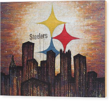 Steelers. Wood Print by Mark M  Mellon