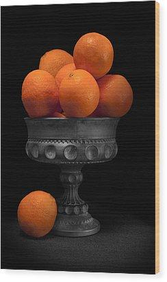 Still Life With Oranges Wood Print by Tom Mc Nemar