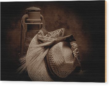 Still Life With Wheat II Wood Print by Tom Mc Nemar