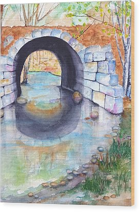 Stone Arch Bridge Dunstable Wood Print by Carlin Blahnik