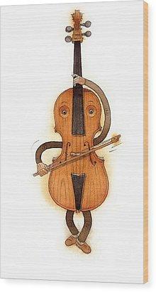 Stradivarius Violin Wood Print by Kestutis Kasparavicius