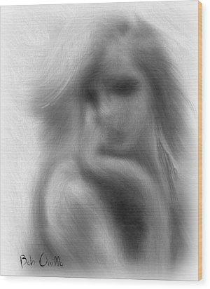 Stranger At The Cafe Wood Print by Bob Orsillo