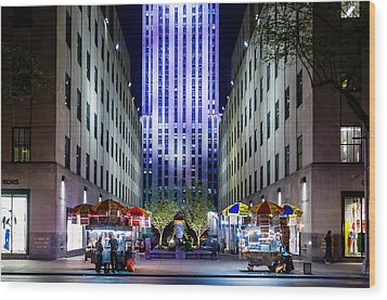 Wood Print featuring the photograph Rockefeller Center by M G Whittingham