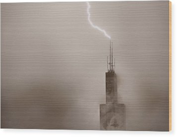 Strike Wood Print by Steve Gadomski