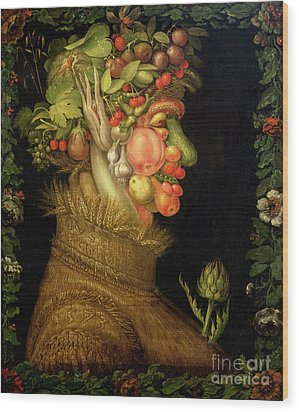 Summer Wood Print by Giuseppe Arcimboldo