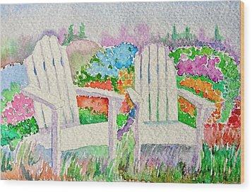 Summer In Paradise Wood Print by Elena Mahoney