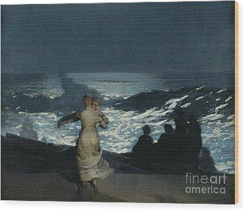 Summer Night Wood Print by Winslow Homer