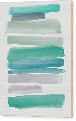 Summer Sky Wood Print by Linda Woods