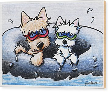 Summer Splash Wood Print by Kim Niles