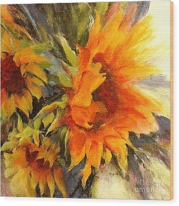 Sunburst Wood Print by Madeleine Holzberg