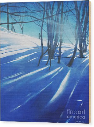 Sunny Traintrip To Hamar Wood Print by Lin Petershagen
