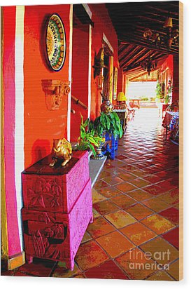 Sunny Veranda By Darian Day Wood Print by Mexicolors Art Photography