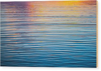 Sunrise Abstract On Calm Waters Wood Print by Parker Cunningham