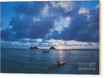 Sunrise At Lanikai Wood Print by Dana Edmunds - Printscapes