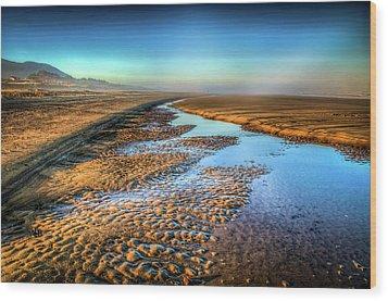 Sunrise At Rockaway Beach Oregon Wood Print by Spencer McDonald
