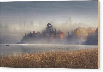 Sunrise In Lake Placid  Wood Print by Magda  Bognar