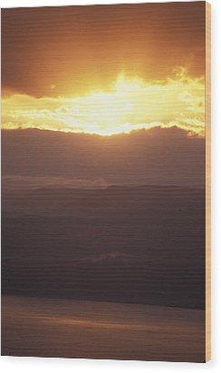 Sunrise Of  Mount Nebo In  Jordan Wood Print by Richard Nowitz