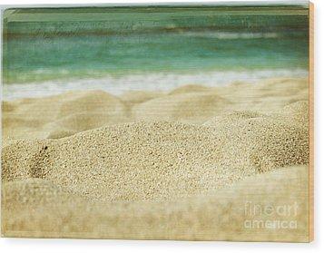 Sunset Beach Wood Print by Sharon Mau