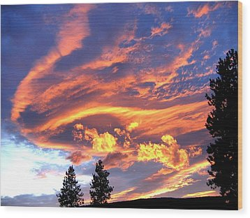 Sunset Extravaganza Wood Print by Will Borden