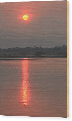 Sunset Fire Wood Print by James BO  Insogna