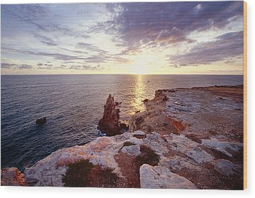 Sunset Over Cabo Rojo Puerto Rico Wood Print by George Oze