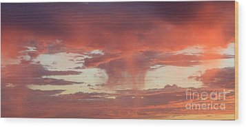 Sunset Sky Wood Print by Nina Prommer