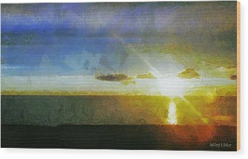 Sunset Under The Clouds Wood Print by Jeff Kolker