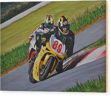 Superbikes Wood Print by Kenneth M  Kirsch