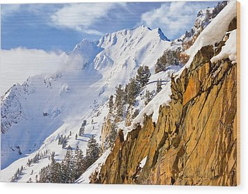 Superior Peak In The Utah Wasatch Mountains  Wood Print by Utah Images